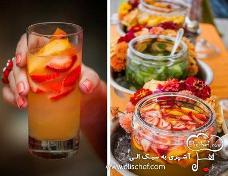 تزئین آب میوه