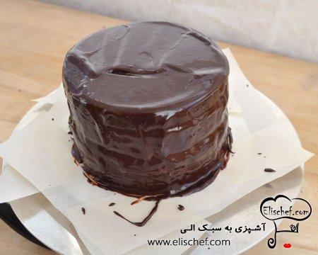 کیک شکلاتی با کرم موکا
